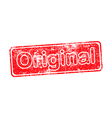 original red grunge rubber stamp vector image vector image