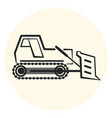 outline earth mover icon bulldozer icon vector image vector image