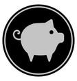 piggy black coin vector image