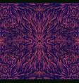 psychedelic trippy colorful fractal mandala pink vector image vector image