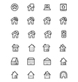 Real Estate Line Icons 5 vector image vector image