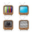 Retro TV Icons vector image vector image