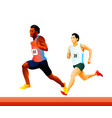 runners at the competition vector image