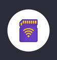 sd card icon memory card with wi-fi vector image