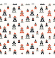 Seamless pattern with stylish trees vector image vector image