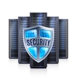Server Rack Security Shield Realistic vector image vector image