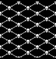 skull and bones seamless pattern background vector image vector image