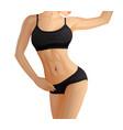 slender sporty woman fitness girl in sportswear vector image