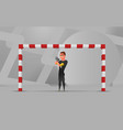 soccer wating goalkeeper character design vector image