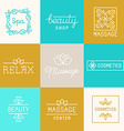 Spa and beauty logos vector image vector image