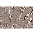 striped brown vector image