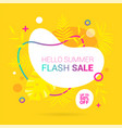 summer sale lettering template banner in yellow vector image vector image