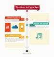 Timeline Web Element Template vector image