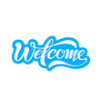 welcome beautiful inscription vector image vector image