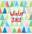 winter sale background with trees and snow vector image vector image