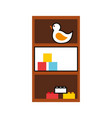 wooden drawer with toys vector image vector image