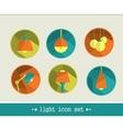 Lamp icon set vector image