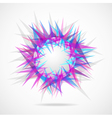 Abstraction from triangles vector image
