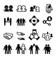 friendship icons vector image