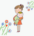 greeting card with mom and baby vector image