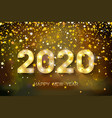 2020 happy new year golden numbers and stars on vector image vector image