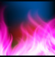 abstract rainbow purple fire background vector image vector image