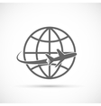 Airplane travel tourism symbol vector image