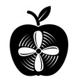 apple icon simple black style vector image vector image