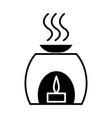 aromatherapy spa treatment icon vector image vector image