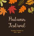 autumn festival invitation poster flat vector image vector image