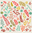 autumn floral background with leaves and branches vector image vector image