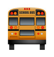 back of school bus mockup realistic style vector image