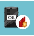 barrel oil concept price growth vector image vector image