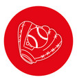 baseball glove with ball vector image vector image