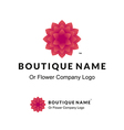 beautiful logo with red flower for boutique or vector image vector image
