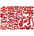 big set red banners vector image vector image