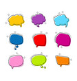 big set shape bright color speech bubble chat vector image