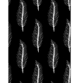 Black white seamless pattern with feathers Boho