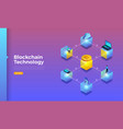 blockchain and crypotocurrency vector image vector image