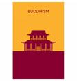 Buddhist temple icon Religious building Landmark vector image vector image