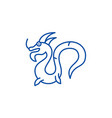 chinese dragon line icon concept chinese dragon vector image