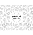chocolate organic and tasty banner template with vector image vector image