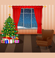 christmas living room inter vector image vector image
