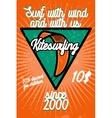 Color vintage kitesurfing banner vector image vector image