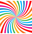 Colorful Bright Rainbow Spiral Background logo vector image vector image
