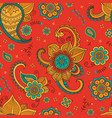 colorful floral pattern in ethnic style vector image