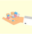 doctor giving pills healthcare concept vector image vector image