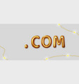 domain com sign icon top-level internet vector image