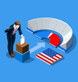 election poll ballot vote infographic vector image