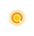 find sun logo icon design vector image vector image